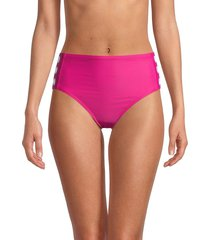 dkny women's high-rise bikini bottom - orchid - size m