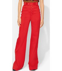 proenza schouler twill high waisted pants cherry/red 2