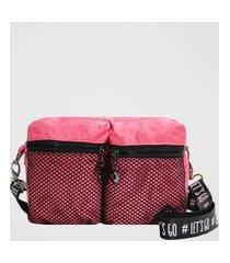bolsa tiracolo back bag nylon let's go feminina