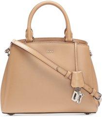 dkny bryant leather medium satchel, created for macy's