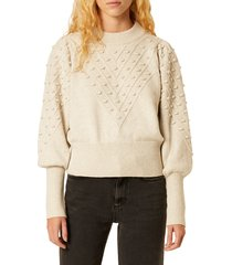 women's french connection bobble stitch crop sweater