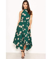 ax paris women's floral print high neck dress