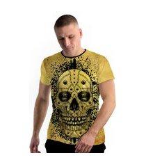 camiseta stompy new collection yellow skull amarelo