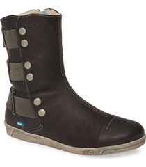 cloud amber wool lined bootie, size 8-8.5us in black leather at nordstrom