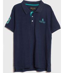 polera royal country of berkshire polo club p/sres m/c azul - calce regular
