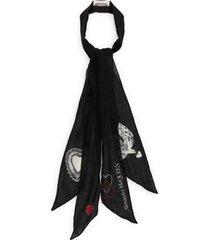 alexander mcqueen mystic wool skinny scarf in black at nordstrom