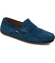 classic suede penny loafer loafers låga skor blå tommy hilfiger