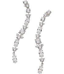adriana orsini women's rhodium-plated & crystal drop earrings - no grey