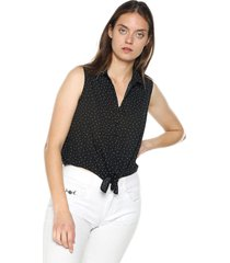 blusa negro-blanco active