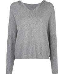 apparis aubrey fine knit hoodie - grey
