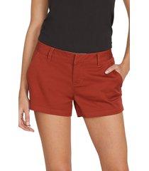 women's volcom frochickie chino shorts, size 31 - orange
