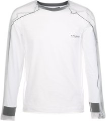 y/project sheer layered sweatshirt - white