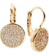 anne klein crystal pave disc drop earrings