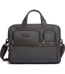 men's tumi alpha 3 expandable organizer laptop briefcase - grey