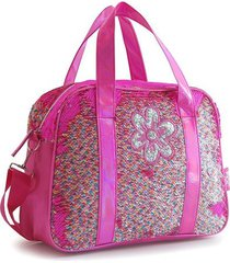 bolso fucsia  back up fun sequins reversible multicolor