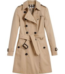 burberry the chelsea mid-length trench coat - neutrals