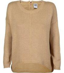 vero moda beige oversized trui