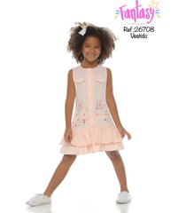 vestido conejitos juguetones-palo de rosa-fantasy
