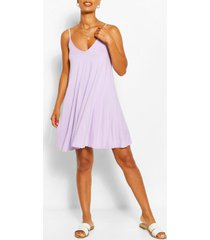 basic swing dress, lilac