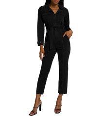 women's good american cargo jumpsuit, size 1 - black