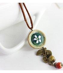 collana fatta a mano ciondolo vintage irregolare foglie geometriche collana di fascino gioielli etnici per le donne