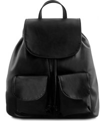 tuscany leather tl141507 seoul - zaino in pelle morbida - misura grande nero