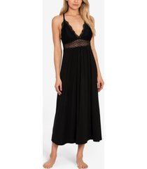 linea donatella lace-trim long nightgown
