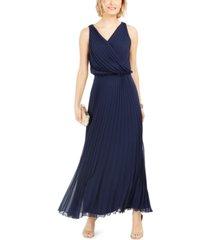 msk pleated chiffon maxi dress