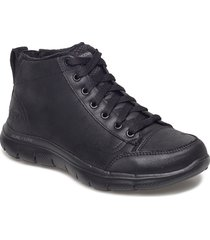 womens flex appeal 2.0 - warm wishes shoes boots ankle boots ankle boot - flat svart skechers