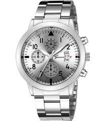 reloj hombre cuarzo deportivo 946 plateado