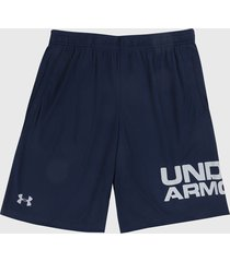 pantaloneta azul-blanco under armour ua tech wordmark