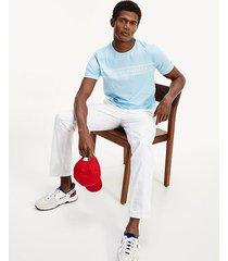 camiseta de corte regular con cuerdas azul tommy hilfiger