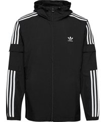 adicolor classics 3-stripes full-zip windbreaker tunn jacka svart adidas originals