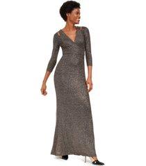 calvin klein cutout glitter gown