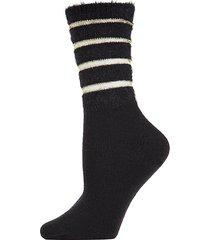 luxe shimmer striped crew socks