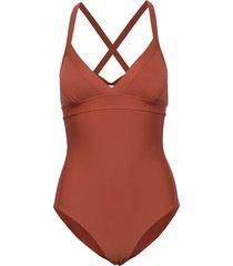 edile baddräkt badkläder orange max mara leisure