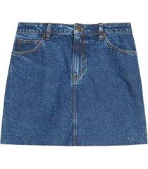 falda en jean color azul oscuro, talla 10