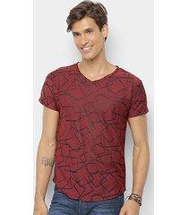camiseta watkins & krown geométrica masculina