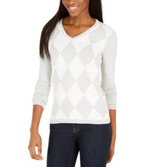 tommy hilfiger diamond-print cotton sweater