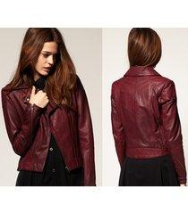 handmade women maroon leather jacket, womens maroon color leather jackets