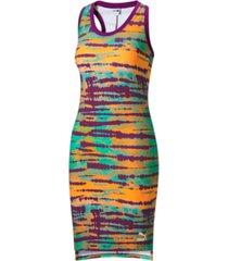 puma women's tie-dyed bodycon dress