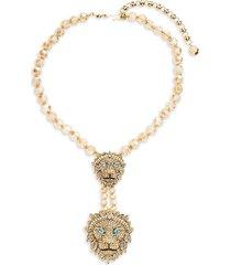 heidi daus women's double lion statement necklace