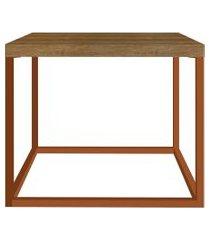 mesa cube p vermont/cobre artesano móveis marrom/cobre