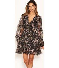 ax paris women's floral frill cut out dress