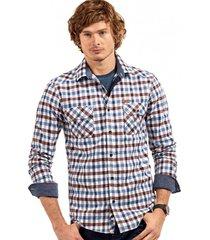 camisa manga larga checkered multicolor ferouch