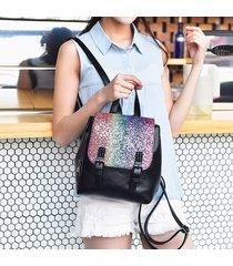 mochilas/ mochila de plata de la manera femenina 2018-negro