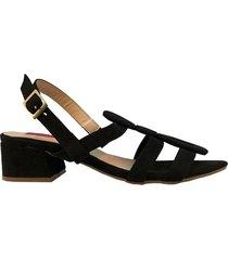 sandalia medium negra para mujer petra sandalia medium petra negro-40