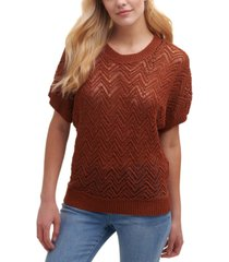 dkny patterned dolman-sleeve top