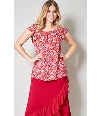shirt sara lindholm rood::offwhite