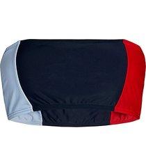 colorblock bandeau bikini top